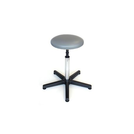 GIMA STOOL - PADDED SEAT WITH FOOT - GREY