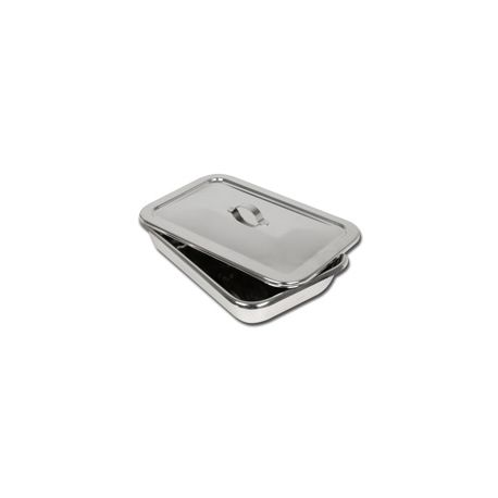 GIMA S/S INSTRUM. TRAY WITH LID - 264 X 172 X H 47 MM