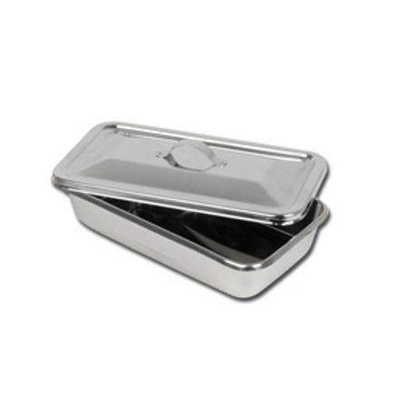 GIMA S/S INSTRUM. TRAY WITH LID - 223X126X45 MM