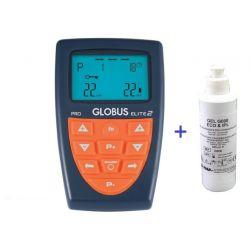 GLOBUS ELECTROESTIMULADOR ELITE 2 + KIT + FRASCO DE GEL 1 L