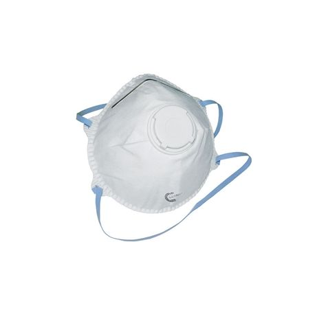 GIMA CONICAL FFP2 FACE MASK WITH VALVE BOX 10 PCS