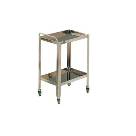 MORETTI STAINLESS STEEL TROLLEY WITH TWO SHELVES CM60X40X8OH