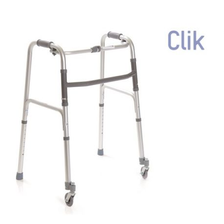 MORETTI FOLDABLE WALKER WITH 2 TOE AND 2 SWIVELING WHEELS