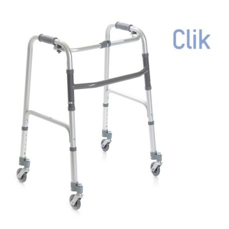 MORETTI FOLDING WALKER WITH 4 WHEELS AND 2 BRAKES