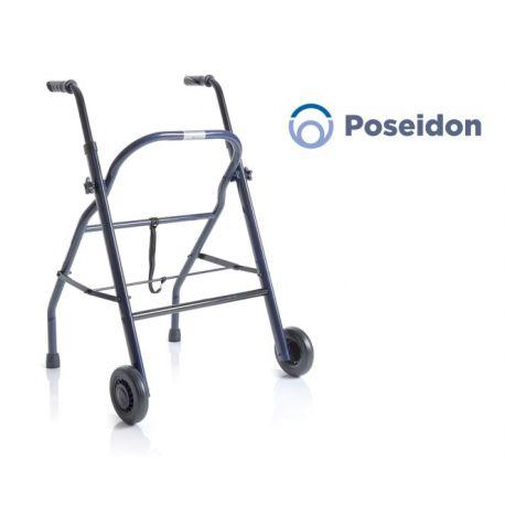 MORETTI FOLDING ROLLATOR IN PAINTED STEEL - 2 WHEELS - POSEIDON