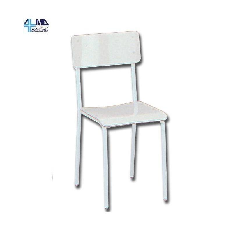 Gima silla con asiento de plastico sin apoyabrazos for Sillas con apoyabrazos