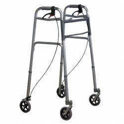 INTERMED FOLDABLE ALUMINUM DEAMBULATOR WITH BRAKES - (AD-48)