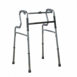 INTERMED FOLDABLE ALUMINUM WALKER WITH DOUBLE HANDLE- AD-49