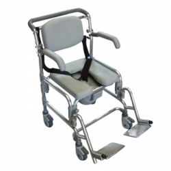 INTERMED SHOWER AND COMFORTABLE FOLDING CHAIR WITH WHEELS - AB-92