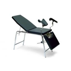 GALENO SIMPLEX GYNECOLOGICAL EXAMINATION TABLE WITH 3 SECTIONS - WHITE - BLACK - CREAM