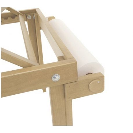 MORETTI ROLL HOLDER FOR WOODEN BED FOR TREATMENTS, MASSAGES AND VISITS - ANTARES 60CM
