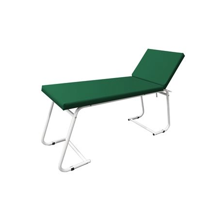 GIMA EXAMINATION COUCH - WHITE PAINTED - GREEN MATTRESS