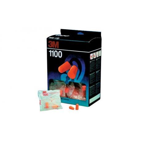 3M EAR PLUGS MODEL 1100 (PACK OF 200 PAIRS)