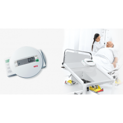 SECA 985 ELECTRONIC BED AND DIALYSIS SCALE WITH EQUIPMENT TROLLEY