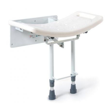 MORETTI WALL SEAT FOR SHOWER WITH FLOOR SUPPORTED FEET