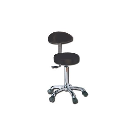 GIMA STOOL WITH BACKREST - HEIGHT ADJUSTABLE - DIFFERENT COLORS