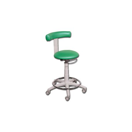 GIMA STOOL WITH RING - RUBBER-TYRED - DIFFERENT COLORS
