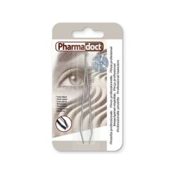PHARMADOCTS PINZA PROFESIONAL PUNTA OBLICUA (12 UDS)
