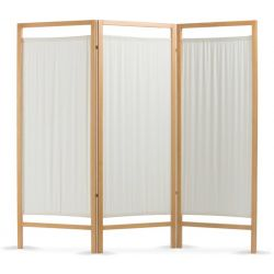 MORETTI WOODEN SCREEN 3 DOORS IN COTTON