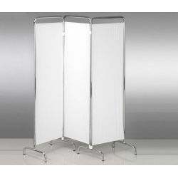 ALMAMEDICAL SCREEN 3 PANELS - 160X170H - IN ANODIZED ALUMINUM