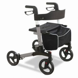 INTERMED FOLDING ALUMINUM WALKER - WITH 4 WHEELS (ATENE)