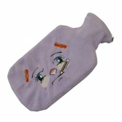 INTERMED HOT WATER BAG IN RUBBER COVERED IN FABRIC-DIFFERENT COLORS