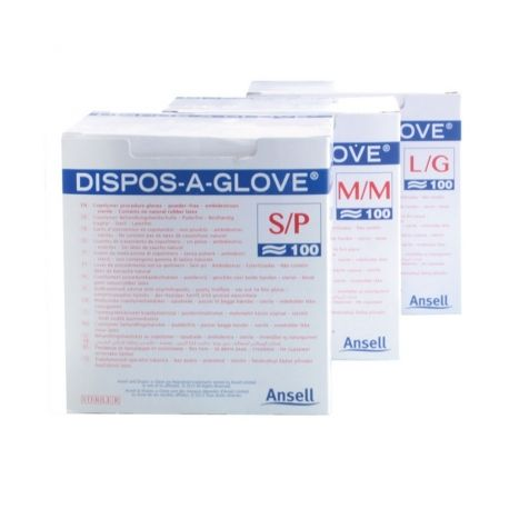 INTERMED COPOLYMER STERILE GLOVES ON PAPER - DIFFERENT SIZES