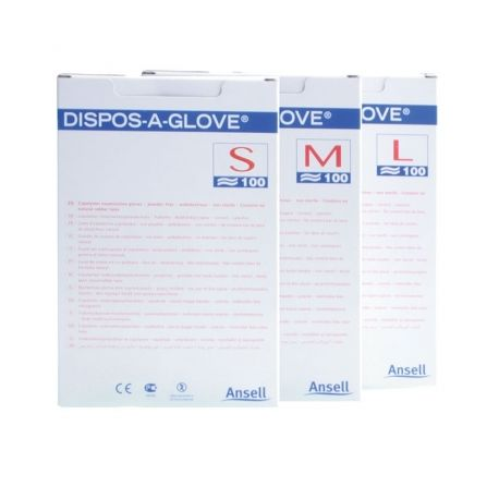 INTERMED COPOLYMER NOT STERILE GLOVES ON PAPER - DIFFERENT SIZES