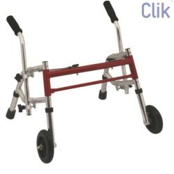 MORETTI MORETTI FOLDING WALKER WITH 2 TIPS AND TWO FIXED WHEELS - FOR KIDS