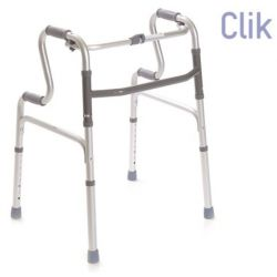 MORETTI FOLDABLE WALKER WITH 4 TOE-TIPS - DOUBLE HANDLE