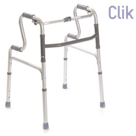 FOLDABLE WALKER WITH 4 TOE-TIPS - DOUBLE HANDLE