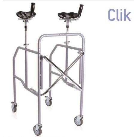 MORETTI FOLDING WALKWAY WITH ANTIBRACHIAL SUPPORT IN PAINTED STEEL