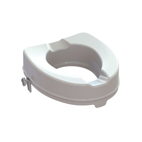 GIMA RAISED TOILET SEAT WITH FIXING SYSTEM - HEIGHT 10 CM