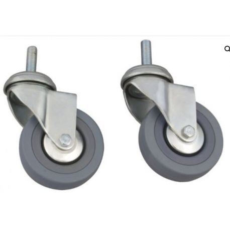 MORETTI RUBBER WHEELS WITHOUT BRAKES (PAIR) FOR WALKERS RP753/54/55/56