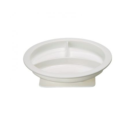 INTERMED PLATE WITH DIVIDERS AND SUCTION CUP BASE