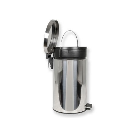 GIMA WASTE BIN 70 L WITH PEDAL - STAINLESS STEEL