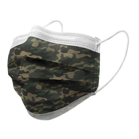 GIMA GISAFE 98% FILTERING SURGEON MASK 3 PLY TYPE IIR WITH LOOPS - ADULT - MILITARY – FLOWPACK (10 PCS.)