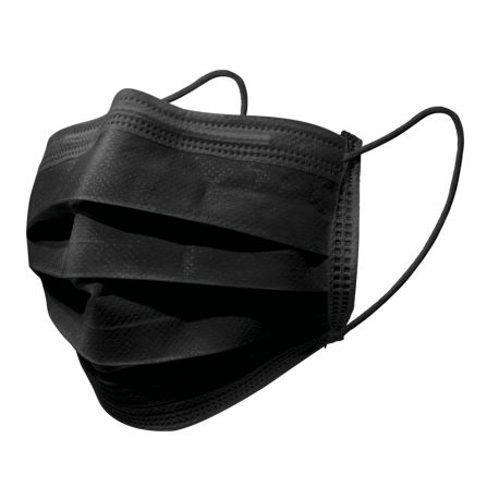 GIMA GISAFE 98% FILTERING SURGEON MASK 3 PLY TYPE IIR WITH LOOPS - ADULT - BLACK – (50 PCS.)