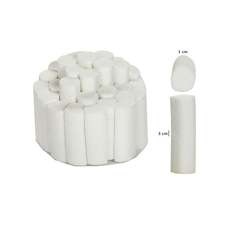 GIMA DENTAL COTTON ROLLS - 1 x 3.8CM - 460G (100 PCS)