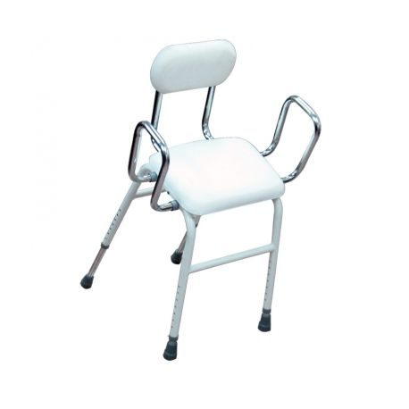 INTERMED ADJUSTABLE CHAIR - 7 DIFFERENT HEIGHTS - PAINTED STEEL FRAME - REMOVABLE BACK AND ARMRESTS