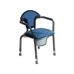 GIMA COMFORT TOILET CHAIR - HEIGHT ADJUSTABLE - BLUE