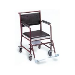 GIMA TOILET WHEELCHAIR WITH CASTORS - PAINTED