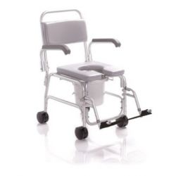 MORETTI TOILET CHAIR FOR WC AND SHOWER ON WHEELS - PADDING IN PVC