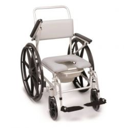 MORETTI SELF-THRUSTING CHAIR FOR WC AND SHOWER - PVC PADDING