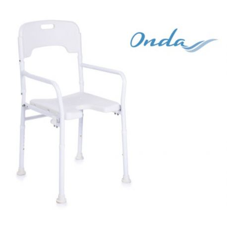 MORETTI SHOWER CHAIR WITH BACKREST - FOLDABLE