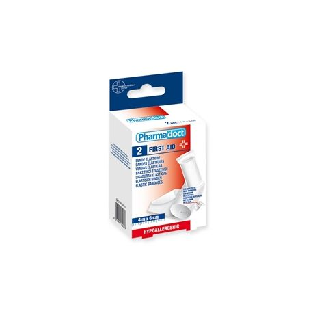 PHARMADOCT ELASTIC BANDAGES 4M X 6CM - CARTON OF 6 BOXES OF 2
