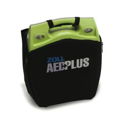 ZOLL AED PLUS DEFIBRILLATOR WITH COVER - BATTERY -  ADULT ELECTRODES ( 1PAIR)