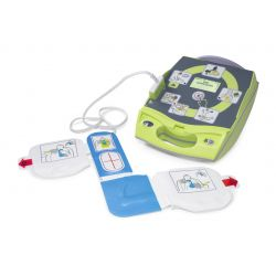 ZOLL AED PLUS DEFIBRILLATOR WITH COVER - BATTERY - CPR ELECTRODE