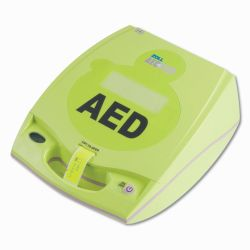 ZOLL AED PLUS DEFIBRILLATOR WITH COVER - BATTERY - CPR AND PEDIATRIC ELECTRODES