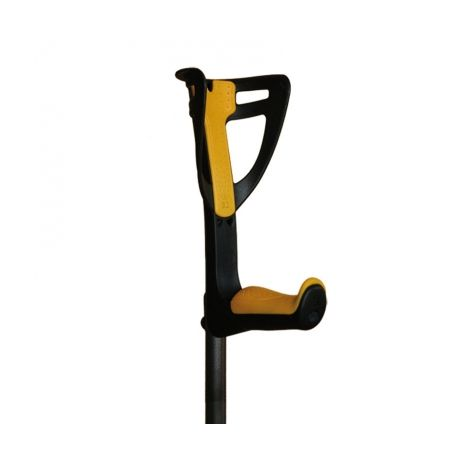 INTERMED CRUTCHES HEIGHT ADJUSTABLE IN ALUMINUM WITH ERGONOMIC HANDLE-MERCURY (DIFFERENT COLORS)